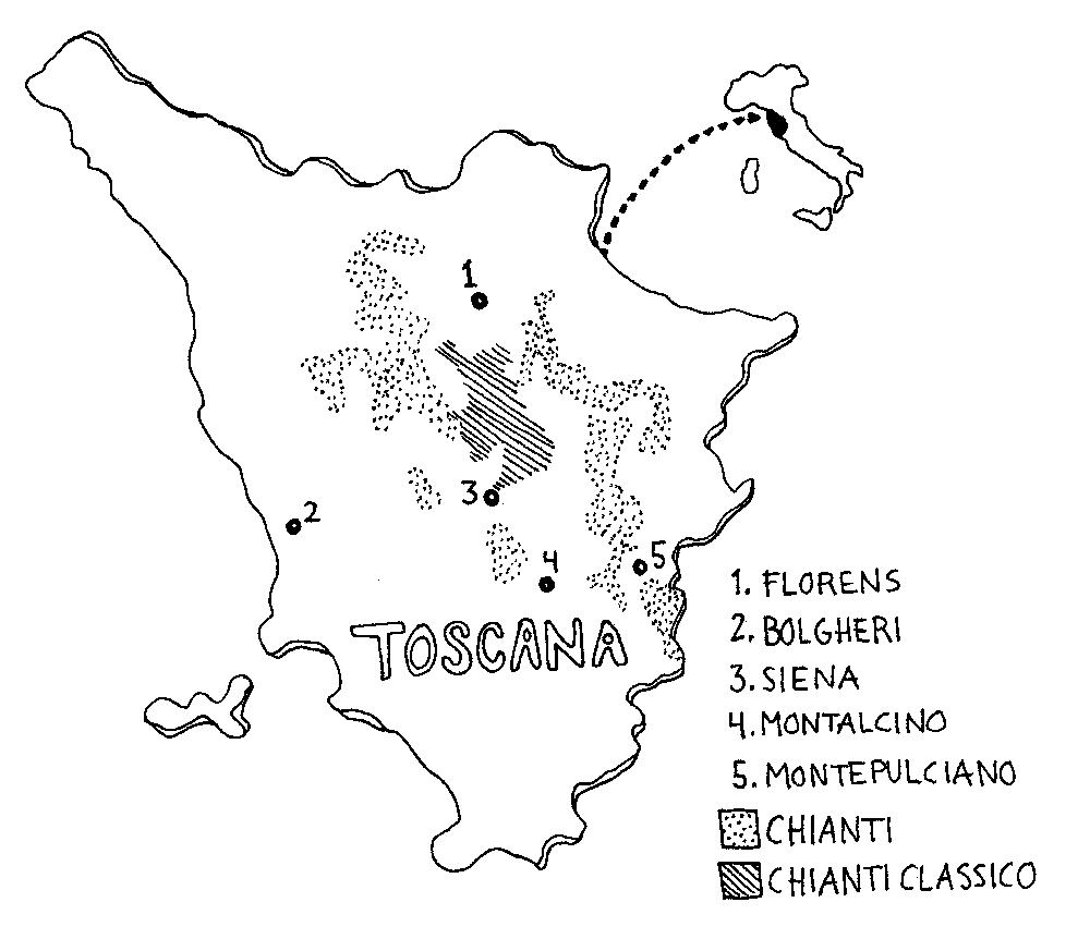 Karta Italien Chianti.Regionen Toscana Italien Daily Bits Of